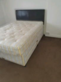 Divan bed and mattress with headboard