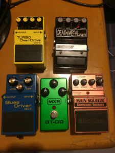 Overdrive / Distortion / Compressor Guitar Pedals