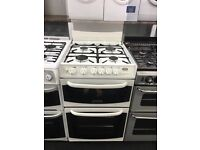 CANNON 55CM ALL GAS COOKER IN WHITE WITH LID.