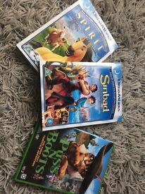 3 children's dream works dvds