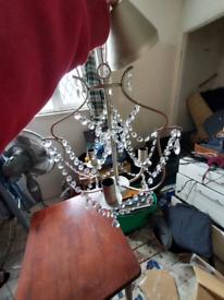 Large hanging chandelier