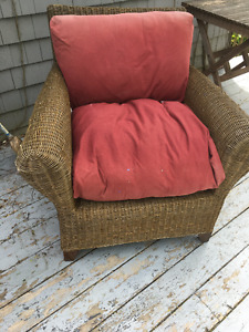 large wicker chair