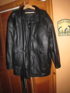 Men's full length leather Jacket