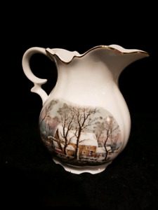 Avon 32 oz pitcher. Currier and Ives