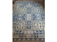 Authentic Tunisian handmade/woven 100% wool rug