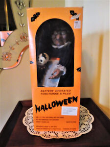 "Vtg Halloween ""Cuddle Wit"" illuminated/animated/musical Witch"