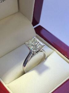 Diamond Engagement Ring 1.10CT Bague de Fiançailles