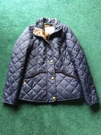 Joules navy quilted jacket - new