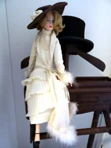 "BOUDOIR STYLE DOLL nouvelle vogue FRENCH SHABBY Vintage 24"" Diva"