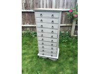 Refurbished Solid Wood Tall Chest of Drawers
