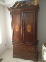 Solid Wood Wardrobe / Entertainement Cabinet