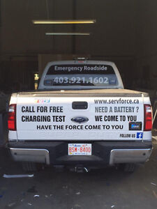 BOOSTING SERVICE / TOWING / TIRE CHANGE & ROTATION / WINCHING