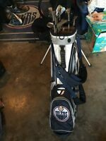 Oilers golf bag right handed clubs