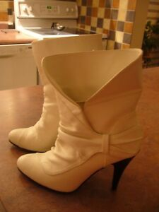 Bottes courtes blanches
