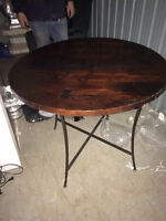 Beautiful antique round wood table for sale