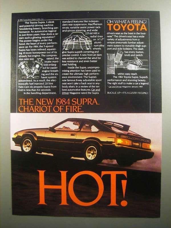 1984 Toyota Supra Ad - Hot!