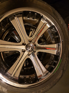 22 inch American racing rims with tires