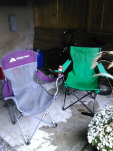 Couple camping chairs