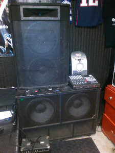 ELITE DOUBLE 15 PA SPEAKERS