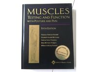 Muscles testing and function book hard back