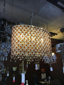 Light Brown Crystal Chandelier