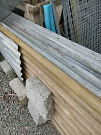 Corrugated iron sheets full size Inc nails rubbers