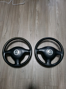 Mk4 VW leather steering wheel with air bag VW 3 spoke wheels