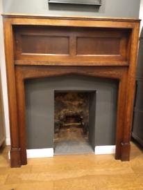 1930's Mantelpiece/fire surround solid wood (oak)