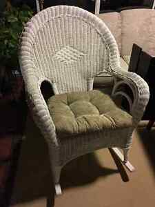 Terrific Wicker Rocking Chair