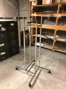 Chrome clothing rack for sale
