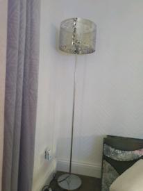 Floor lamp silver