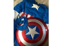 Captain America Men's Fancy Dress Costume Large / Extra Large Marvel