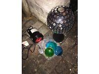Disco mirror ball & light
