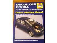 Vauxhall corsa haynes manual 2006/2010