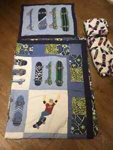 Skateboard Quilt bedding for Sale - single and double set avail