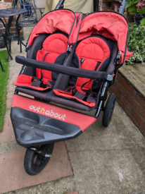 Out N About nipper TWIN pushchair