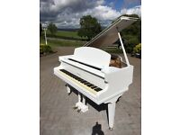 White Challen Baby Grand Piano | Belfast Pianos|