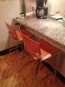 Pair of new, bar height leather stools! Cambridge Kitchener Area image 2