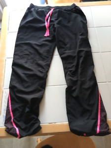 Girls thinly lined black athletic pants from Justice size 16