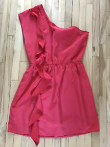 Like New One-Shouldered Red Dress