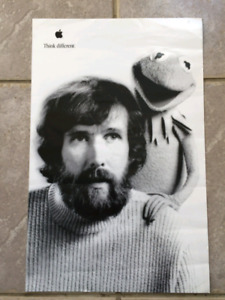 APPLE Think Different | Jim Henson & Kermit the Frog Poster 11x1