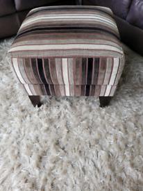 Next striped footstool