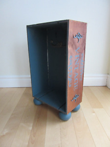 Crate-art shabby-chic armoire/bedside table