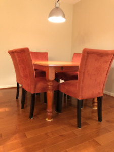 Mint dinning table set w/ 6 chairs