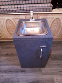 New sink tap and water containers plus unit