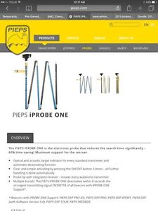 New Never Used - PIEPS iProbe One
