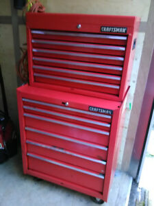 Craftsman mechanics tool chest with tools