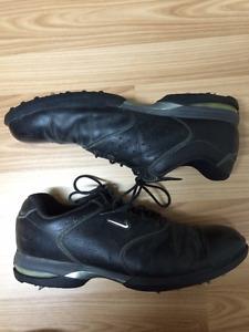 Men's NIKE Full leather Golf Shoes Sz11.5 & Nike Golf Polish kit