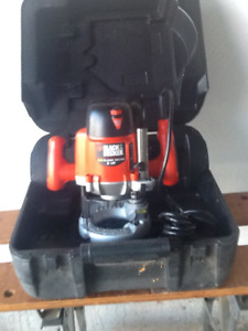 Black & Decker Router and Case