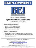 Qualified DZ and AZ Drivers